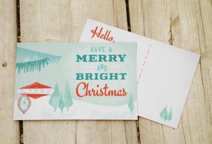 vintage style Christmas postcard