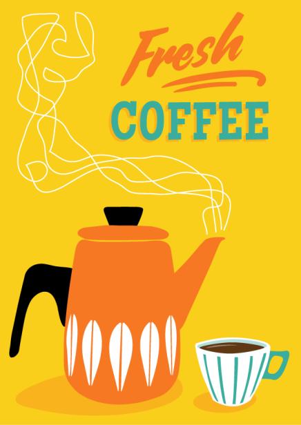 retro coffee poster