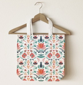 colorful folk art pattern