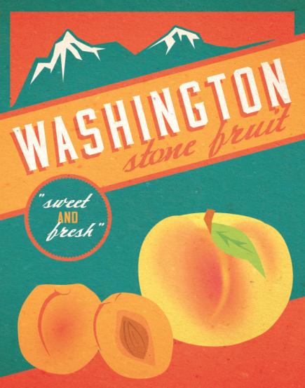 washington fruit poster