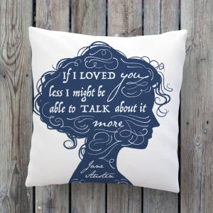 Jane Austen quote illustration